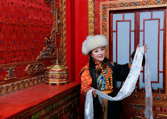 Xuejie in Tibetan dress