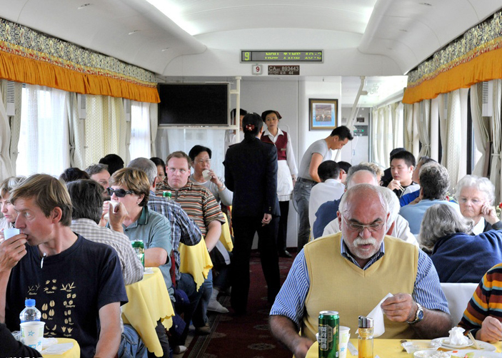 Dining Car & Food on Tibet Train
