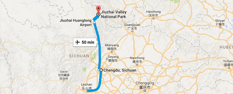7 Days Sichuan Discovery Tour  Map