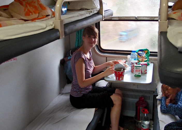Hard sleeper cabin on Tibet train